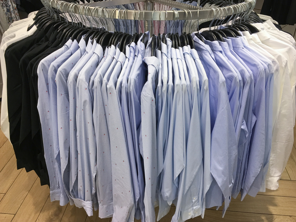 A collection of near-identical business shirts, in slightly different colours and sizes. These would all need separately and correctly listing in the Product Feed.